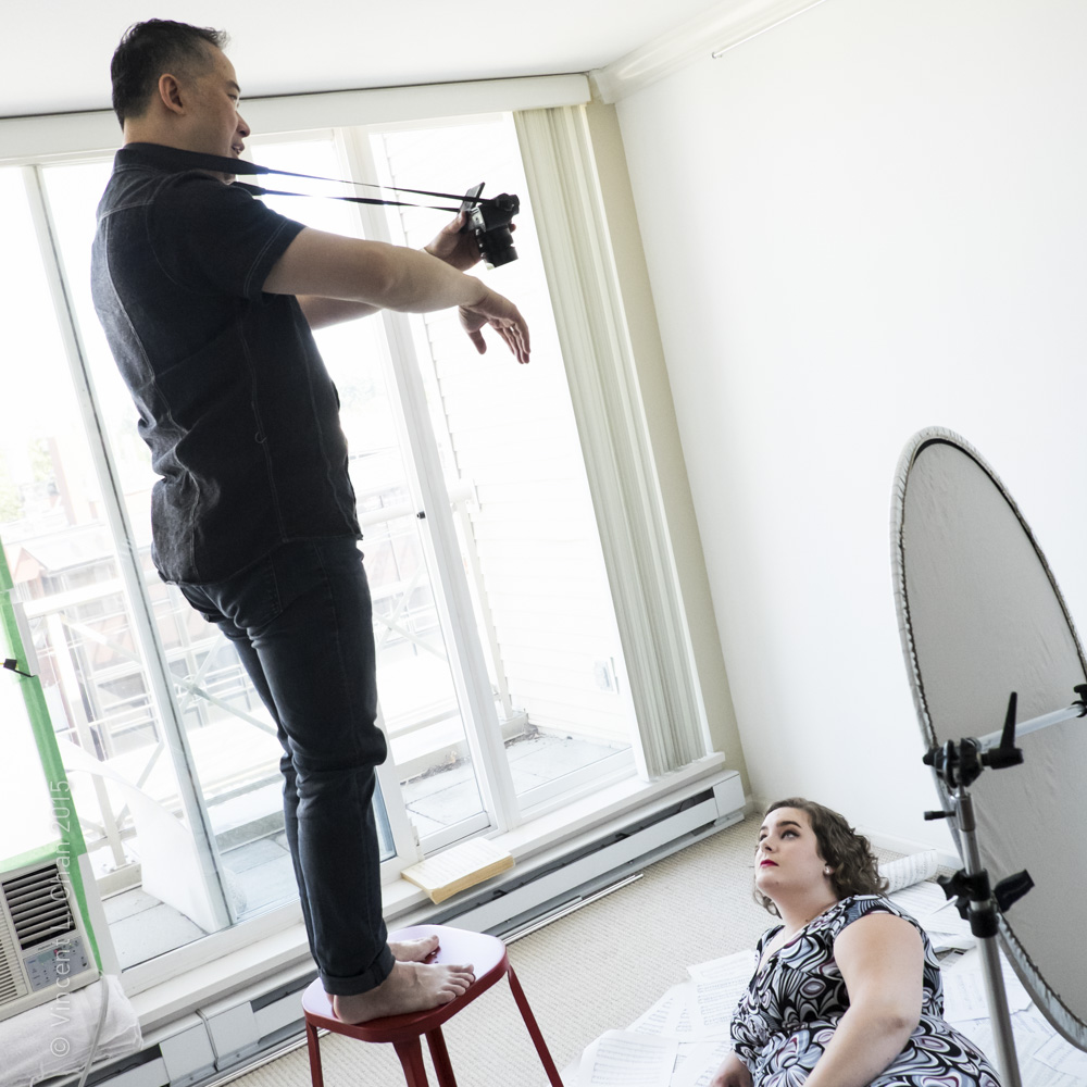 Invisionation Photography, Vincent L Chan at work in his Vancouver photography studio